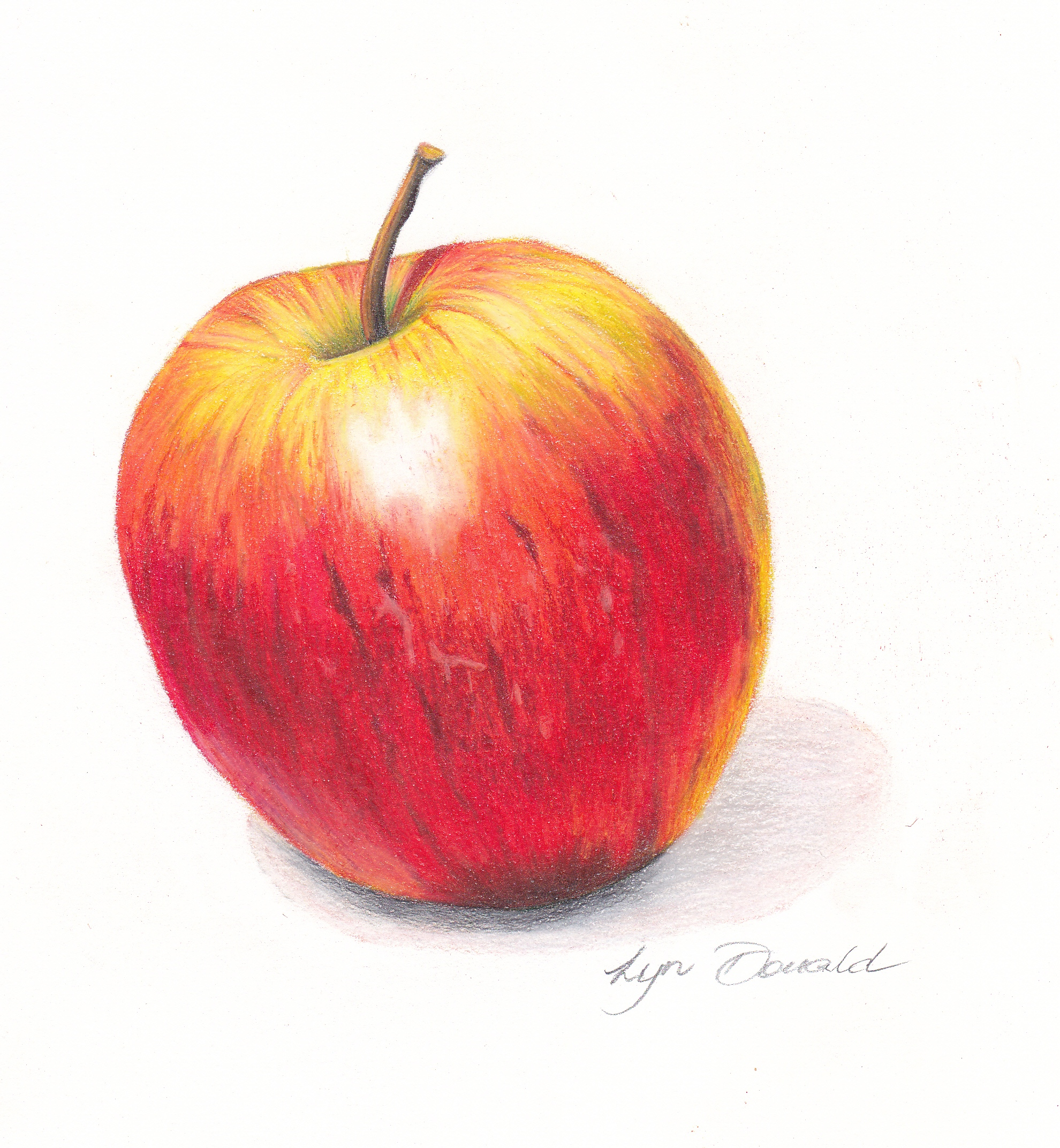 Delicious Apple-Coloured Pencil