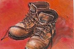 Les's Boots Series No 1 (40 x 40cm)